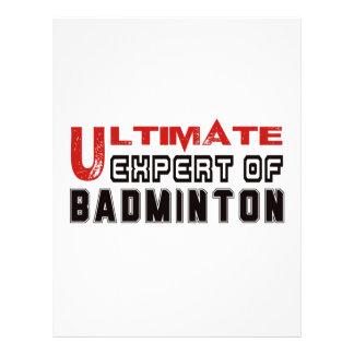 Ultimate Expert Of Badminton. Letterhead
