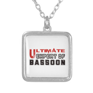 Ultimate Expert Of Bassoon. Square Pendant Necklace