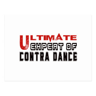 Ultimate Expert Of Contra dance. Postcard