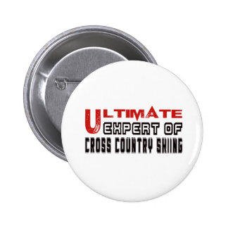 Ultimate Expert Of Cross Country Skiing. 2 Inch Round Button