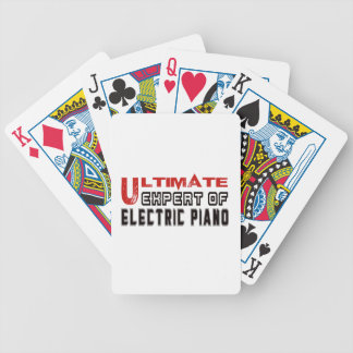 Ultimate Expert Of electric piano. Bicycle Playing Cards
