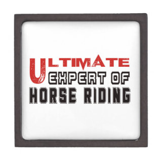 Ultimate Expert Of Horse Riding. Premium Trinket Box