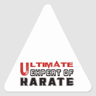 Ultimate Expert Of Karate. Triangle Sticker