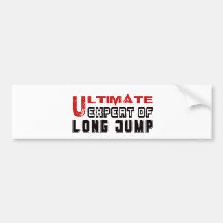 Ultimate Expert Of Long Jump. Car Bumper Sticker