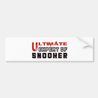 Ultimate Expert Of Snooker. Car Bumper Sticker