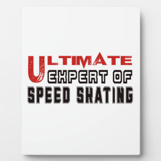 Ultimate Expert Of Speed Skating. Display Plaques