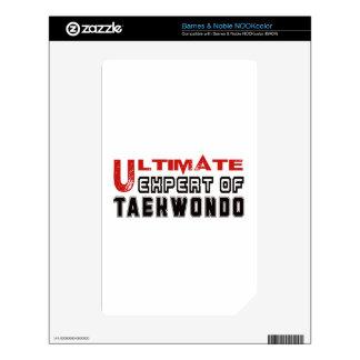 Ultimate Expert Of Taekwondo. NOOK Color Skin