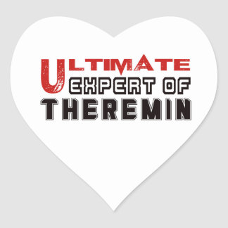 Ultimate Expert Of Theremin. Heart Sticker