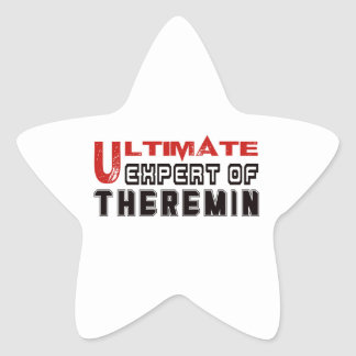 Ultimate Expert Of Theremin. Star Sticker