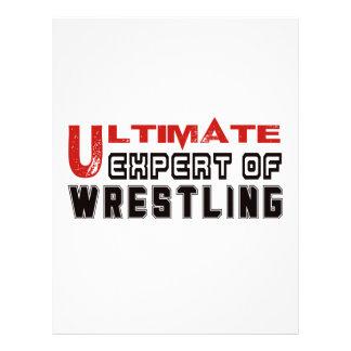 Ultimate Expert Of Wrestling. Letterhead