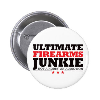 Ultimate Firearms Junkie - Red 2 Inch Round Button