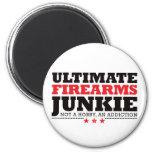 Ultimate Firearms Junkie - Red Fridge Magnets