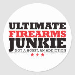 Ultimate Firearms Junkie - Red Round Stickers