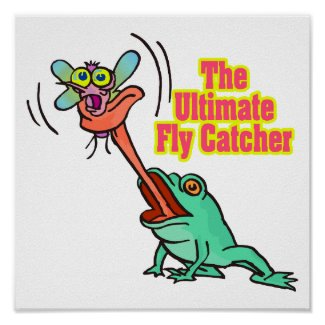 ultimate fly catcher funny frog print. Ultimate Fly Catcher by super_shop