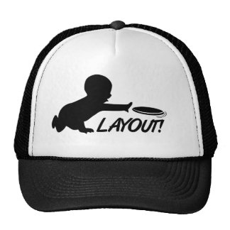 Ultimate Frisbee baby layout Trucker Hat