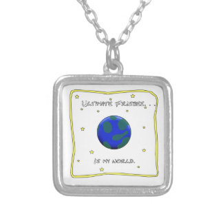 Ultimate Frisbee Is My World Square Pendant Necklace