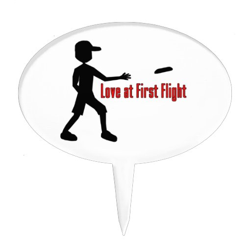 Ultimate Frisbee Love at First Flight Cake Topper