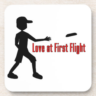 Ultimate Frisbee Love at First Flight Drink Coaster
