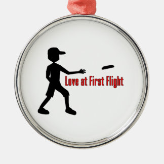 Ultimate Frisbee Love at First Flight Metal Ornament