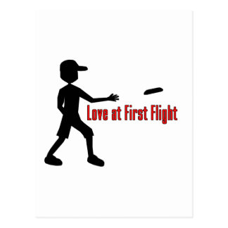 Ultimate Frisbee Love at First Flight Post Cards