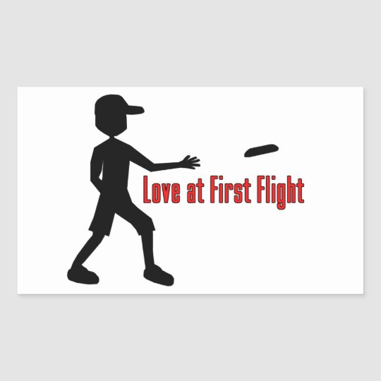Ultimate Frisbee Love at First Flight Rectangular Sticker
