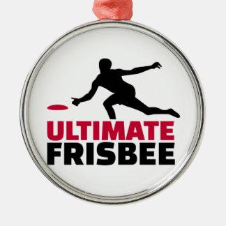 Ultimate Frisbee Metal Ornament