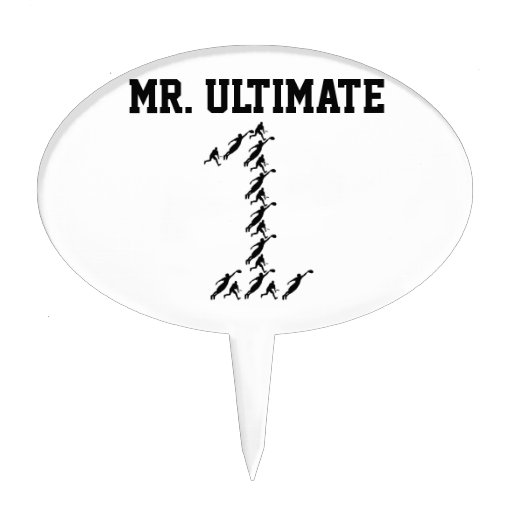 Ultimate Frisbee Mr./Miss Ultimate Cake Toppers
