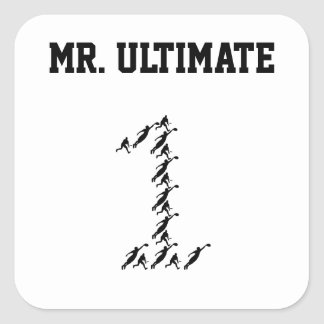 Ultimate Frisbee Mr./Miss Ultimate Square Sticker