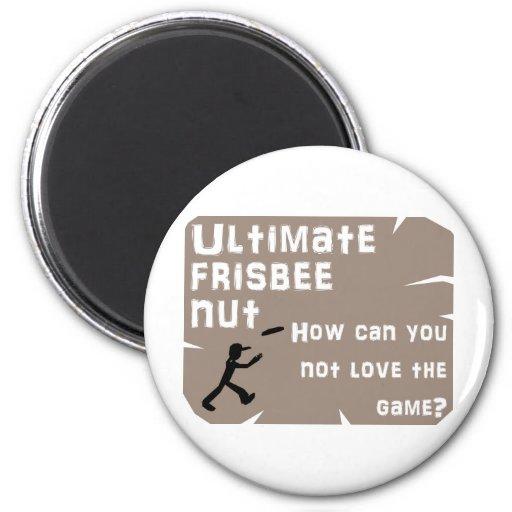 Ultimate Frisbee Nut Magnet