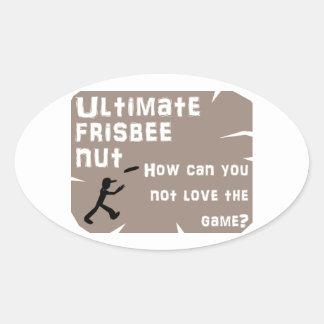 Ultimate Frisbee Nut Oval Sticker