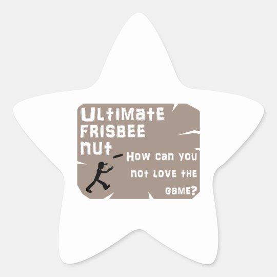 Ultimate Frisbee Nut Star Sticker
