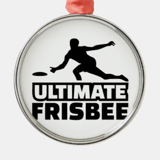 Ultimate Frisbee Round Metal Christmas Ornament