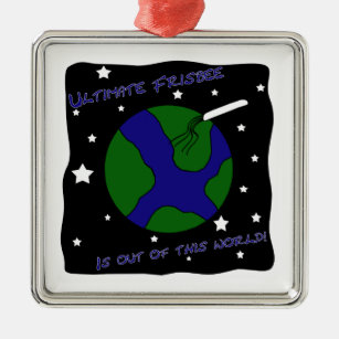 02eab53d92392 Ultimate Frisbee Out of this World Metal Ornament