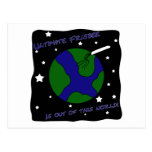 Ultimate Frisbee Out of this World Postcard