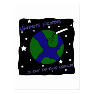 Ultimate Frisbee Out of this World Postcards