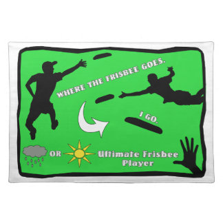 Ultimate Frisbee Rain or Shine Cloth Placemat