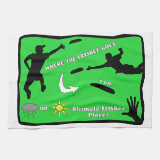 Ultimate Frisbee Rain or Shine Hand Towel