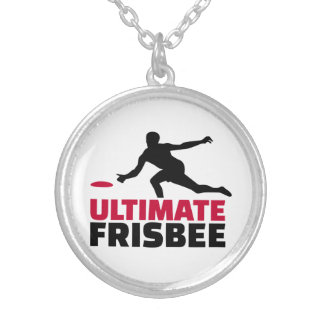 Ultimate Frisbee Round Pendant Necklace