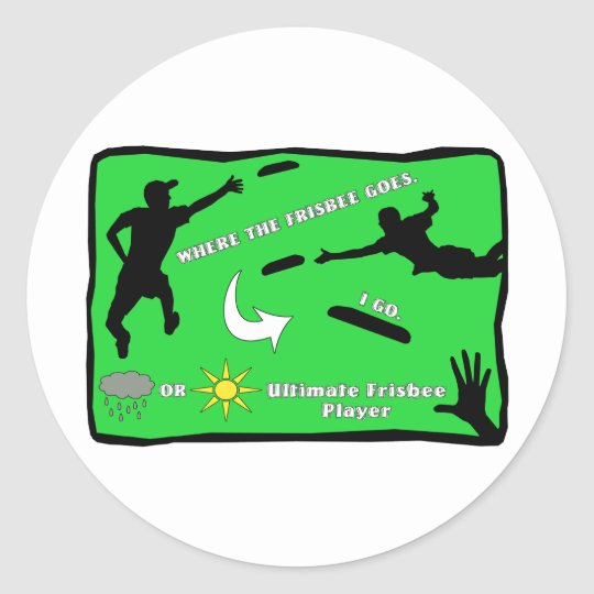 Ultimate Frisbee Stickers