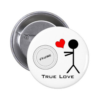 Ultimate Frisbee True Love Buttons