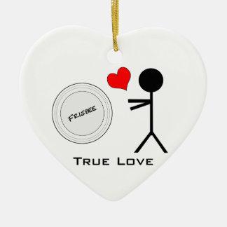 Ultimate Frisbee True Love Ceramic Ornament