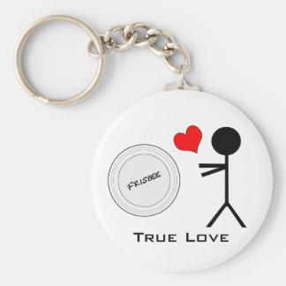 Ultimate Frisbee True Love Keychain
