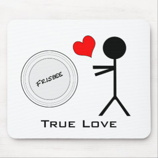 Ultimate Frisbee True Love Mouse Pad