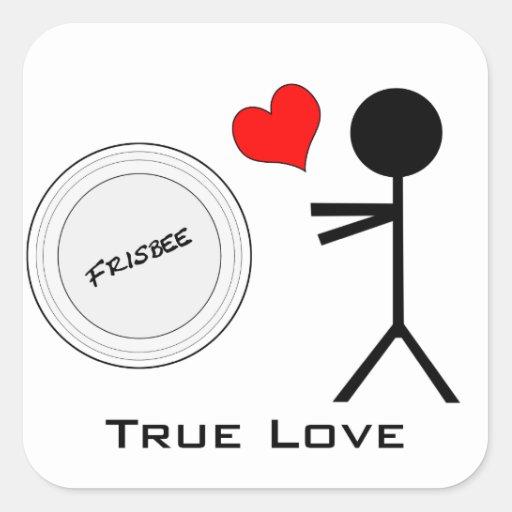Ultimate Frisbee True Love Square Sticker