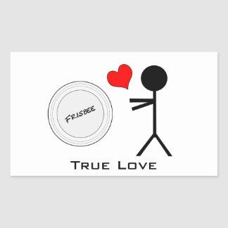 Ultimate Frisbee True Love Rectangle Stickers