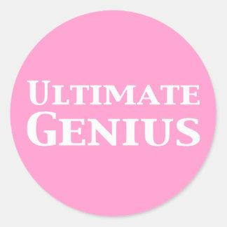 Ultimate Genius Gifts Classic Round Sticker