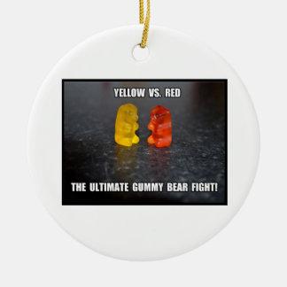 Ultimate Gummy Bear Fight Ceramic Ornament