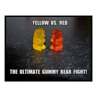 Ultimate Gummy Bear Fight Poster