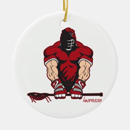 Ultimate Lacrosse Ceramic Ornament