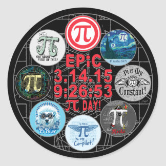 Ultimate Memorial for Epic Pi Day Round Stickers